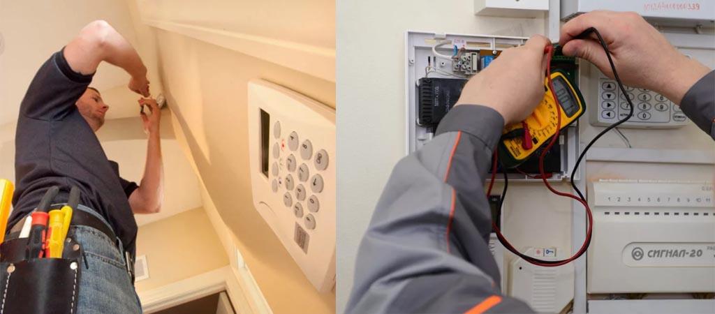 Услуги по ремонту систем охранной сигнализации
