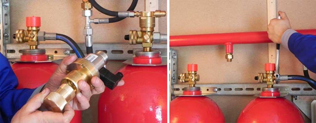 Проведение технического обслуживания системы газового пожаротушения